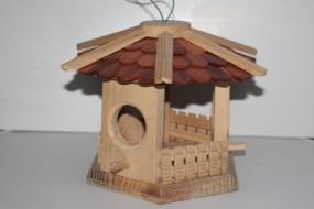 Vogelhaus, Vogelfutterhaus Rund 19 x 19 (klein)